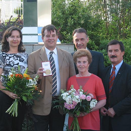 2005 Pension Ing. Radel goldene Ehrenmedaille