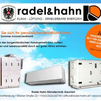 Radel & Hahn Handwerkerbonus 2017