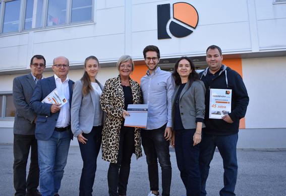 Radel Hahn Geschäftsführung und Vertreter der Gemeinde Mattersburg