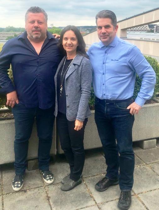 Die Geschäftsführer der Radel & Hahn Gruppe v.l.nr. Gerald Piller, Andrea Hahn-Radel und Janos Tar